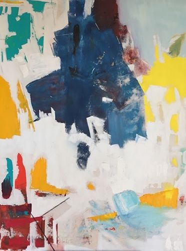 "Contemporary Art, Abstract,Expressionism, Studio 9 Fine Art "" Liberte' Egalite,Fraternite'"" by International Abstract Artist Amanda Saint Claire"