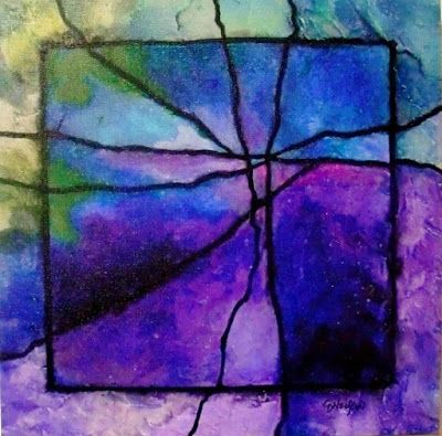"Fine Art Print, Gemstone Abstract Art ""Gemstone 4R"" by Colorado Mixed Media Abstract Artist Carol Nelson"