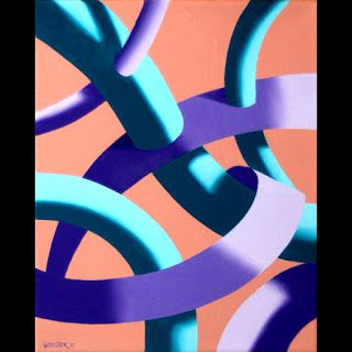 Mark Webster - Biomechanical Abstract Geometric Oil Painting