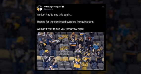 Pittsburgh Penguins Photoshopped Masks onto Fans, Sparking Backlash