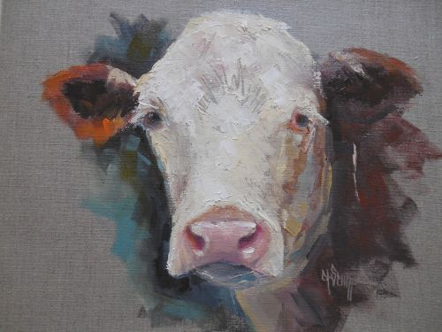 Cow Painting,Daily Painting, Domestic Animal Oil Painting