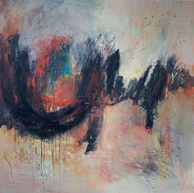 "Expressionism Art, Contemporary Art, Abstract Art For Sale ""Towards the New Horizon"" by Contemporary Artist Liz Thoresen"
