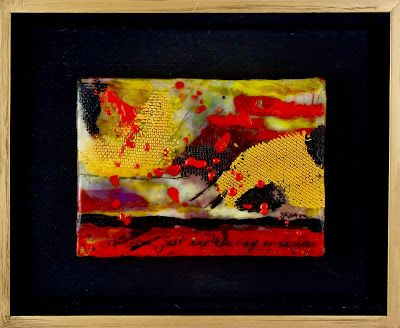 "Encaustic Abstract Art, Mixed Media, Contemporary Painting, ""Expressions"" by Texas Contemporary Artist Sharon Whisnand"