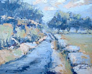 Creek Bound 9, New Contemporary Landscape Painting by Sheri Jones