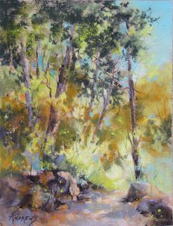 Meandering Light..Pastel..Texas Artist..Rae Andrews
