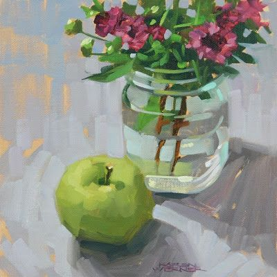 Green Apple With Mums