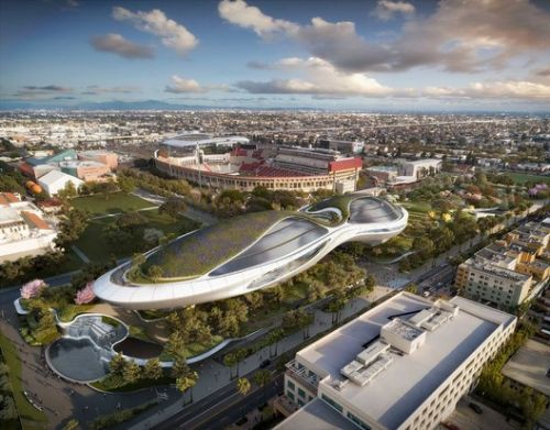 Lucas Museum's Steel Frame Takes Shape in Los Angeles