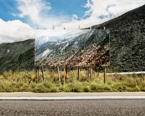 Large-Scale Photographic Installations by Olivier Lovey Blur Distinctions Between Two and Three Dimensions