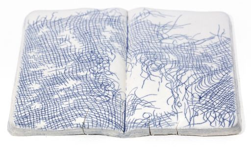 Takeout Containers and Worn Sketchbooks by Artist Yoonmi Nam Explore the Permanence of Everyday Disposables