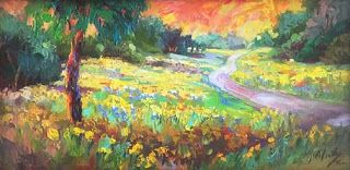 "New ""Waves of Wildflowers IV"" Texas Hill Country Oil Painting by Niki Gulley"