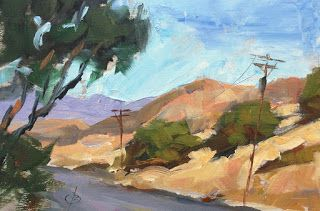 SANTIAGO CANYON ROAD by TOM BROWN
