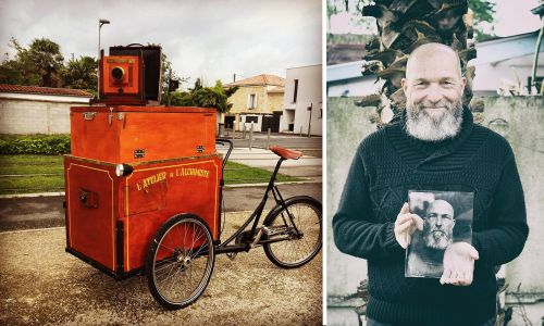 This Photographer Put a Full Wet Plate Photography Darkroom on a Tricycle
