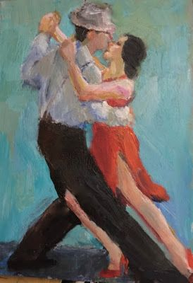 Lost in the Tango - original oil figurative painting