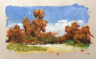 IMPRESSIONIST LANDSCAPE STUDY by TOM BROWN