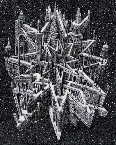 Impossible Cityscapes by Benjamin Sack Draw Inspiration From Cartography and Musical Compositions