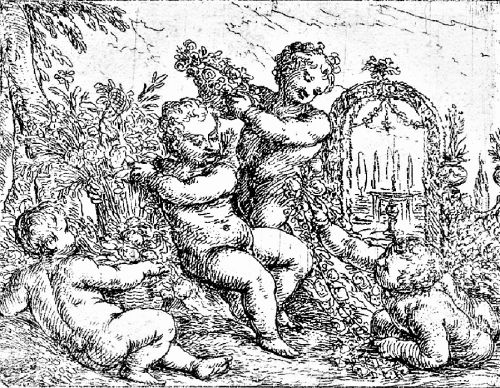 1650s Allegory of Spring- In a Garden