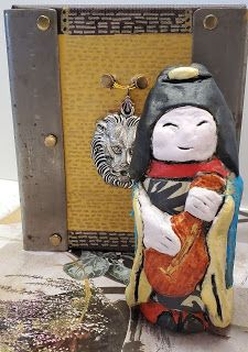 NE EBAY AUCTION ITEM - Benten - Goddess of Creativity - Paper Clay Sculpture - Handmade One of a Kind
