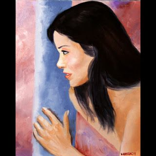 Mark Webster - Mandy 202-03 Figurative Oil Painting