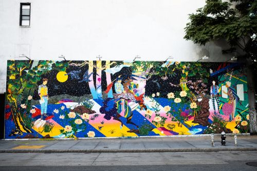 Tomokazu Matsuyama Takes Over Iconic Houston Bowery Wall