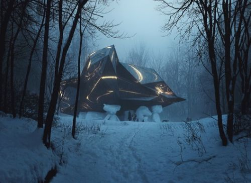 "Snøhetta's ""A House to Die In"" Goes Up for Public Display as the Project Faces Approval Battle"