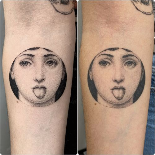 Fine Lines and Dotwork Form Surreal Monochromatic Tattoos by Michele Volpi