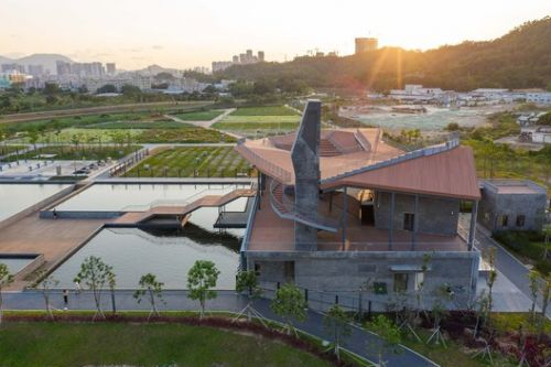 Pingshan Terrace, the Renovation of Nanbu Water Purification Station / NODE Achitecture & Urbanism