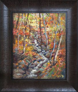 """Fall's Cascade"" by Contemporary Impressionist Niki Gulley"