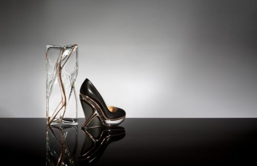 Zaha Hadid Design Creates Shoe and Transparent Clutch Bag for Charlotte Olympia