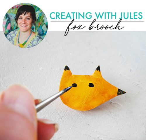 Creating with jules: fox brooch