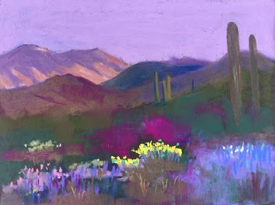 "Contemporary Southwest Landscape, ""Early Morning,"" by Amy Whitehouse"