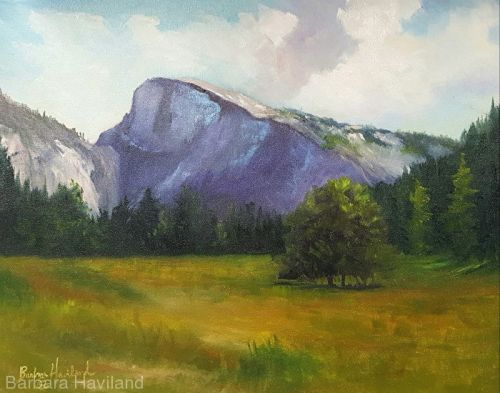 Half Dome,oils canvas,landscape,Barbara Haviland-Texas Landscape Artist