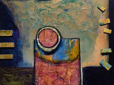 "Contemporary Abstract Painting, Mixed Media, Art For Sale ""Elevate"" by Santa Fe Contemporary Artist Sandra Duran Wilson"