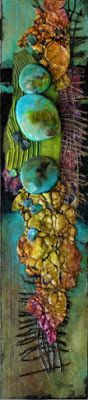 """Mixed media """"Extreme Abstracts Demo"""" © Carol Nelson Fine Art"""