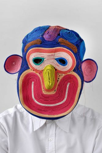 Brightly Colored Rope Masks Born from Happy Accidents by Bertjan Pot