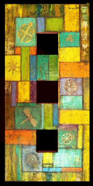 "Contemporary Art, Mixed Media, Abstract Art Painting ""Color Renovar"" by Arizona Artist Pat Stacy"