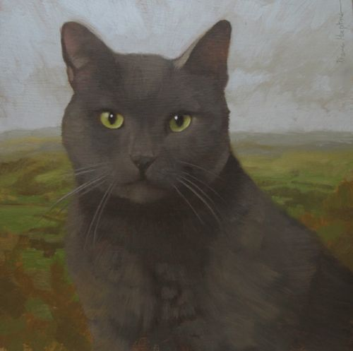 Austere Coco a new cat painting