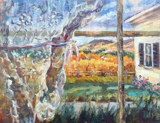 """New """"Room with a View"""" Oil Painting by Contemporary Impressionist Niki Gulley"""