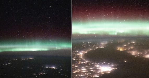 The International Space Station Beautifully Captures Earth's Aurora