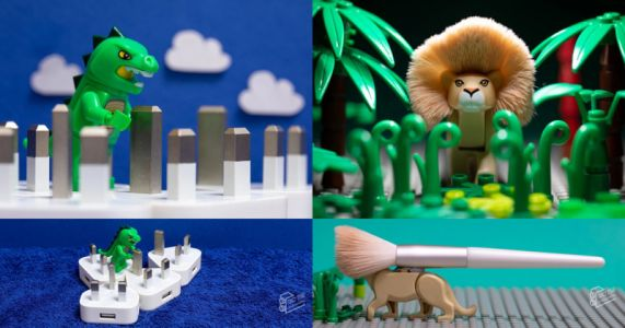 Photographer Uses Household Items to Create Miniature Worlds for His Toys