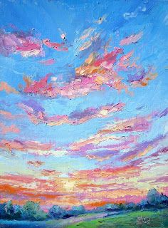 Sky Movement, New Contemporary Landscape Painting by Sheri Jones