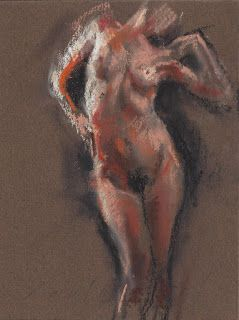Venus frontal female nude figure drawing