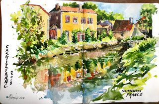 Journal Posts from Trip In France..Watercolor..Rae Andrews