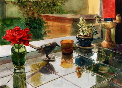 Watercolor Still Life Paintings from the Kitchen