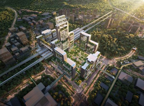Foster + Partners Wins Competition to Design Guangming Hub, a New Transport Oriented Development in China