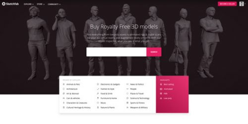 Sketchfab Launches 3D Model Marketplace For Buying and Selling Models Online