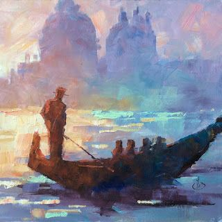 VENICE, GRAND CANAL, GONDOLA by TOM BROWN