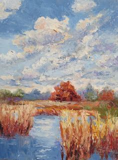 Lake Side Impressions, New Contemporary Landscape Paintings by Sheri Jones