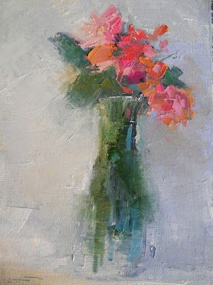 Small Floral Painting, Daily Painting, Small Oil Painting, 8x10