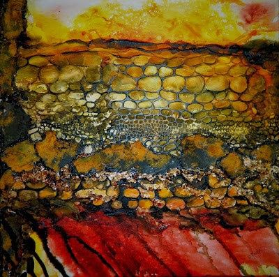 """Original Abstract Mixed Media Painting, """"Uncaged"""", by Colorado Artist, Donna L. Martin"""