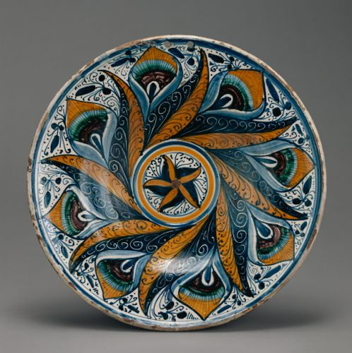 Worth a Thousand Words: Dish with Peacock Feather Pattern